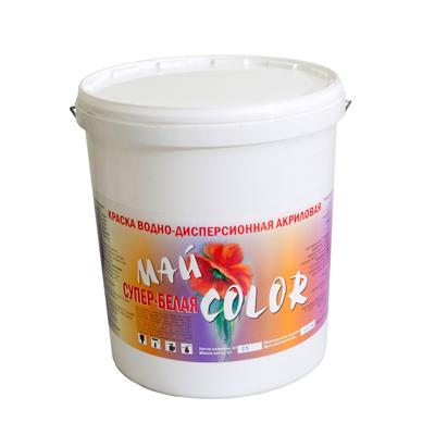 Краска акриловая водоэмульсионная СУПЕР - БЕЛАЯ белая полуглянцевая моющаяся 25 кг