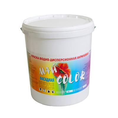 Краска акриловая водоэмульсионная ФАСАДНАЯ белая  15 кг