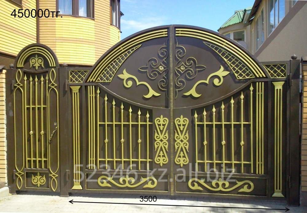 Как сделать красивые ворота из профнастила