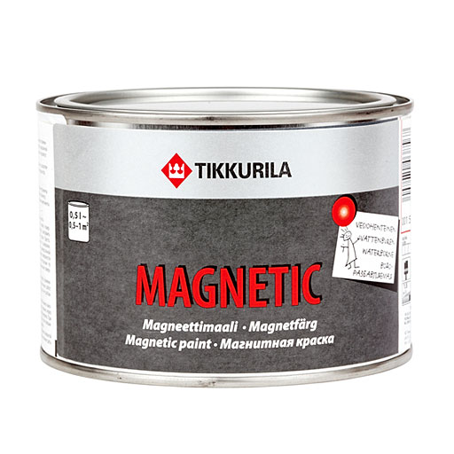 Buy Novelty, paint the Magnetic, it is possible to fix magnets it is direct on a wall