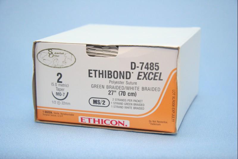 Ethibond* Excel (Полиэстер с покрытием из полибутилата)