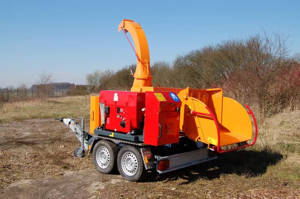 Рубительная машина Jensen А231 (Измельчитель древесины)