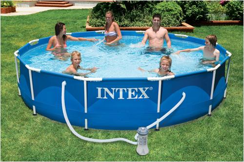 Stock Pool frame combined Intex Metal Frame Pool buy in Almaty
