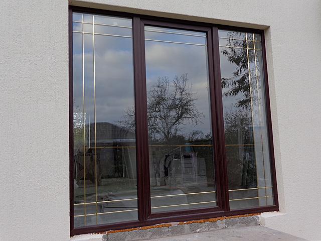 The laminated pvc windows. color - mahogany buy in almaty.
