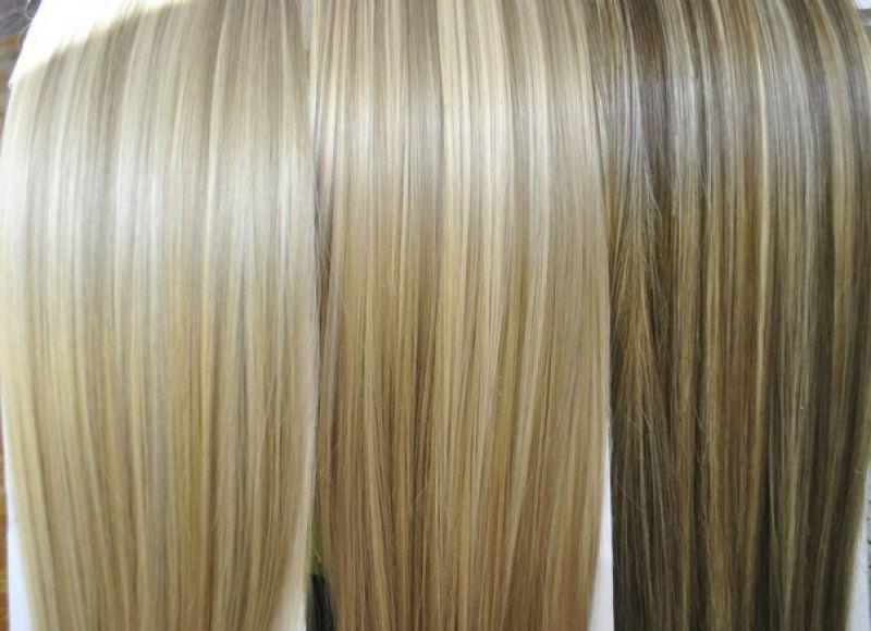 Накладные пряди трессы из натуральных волос