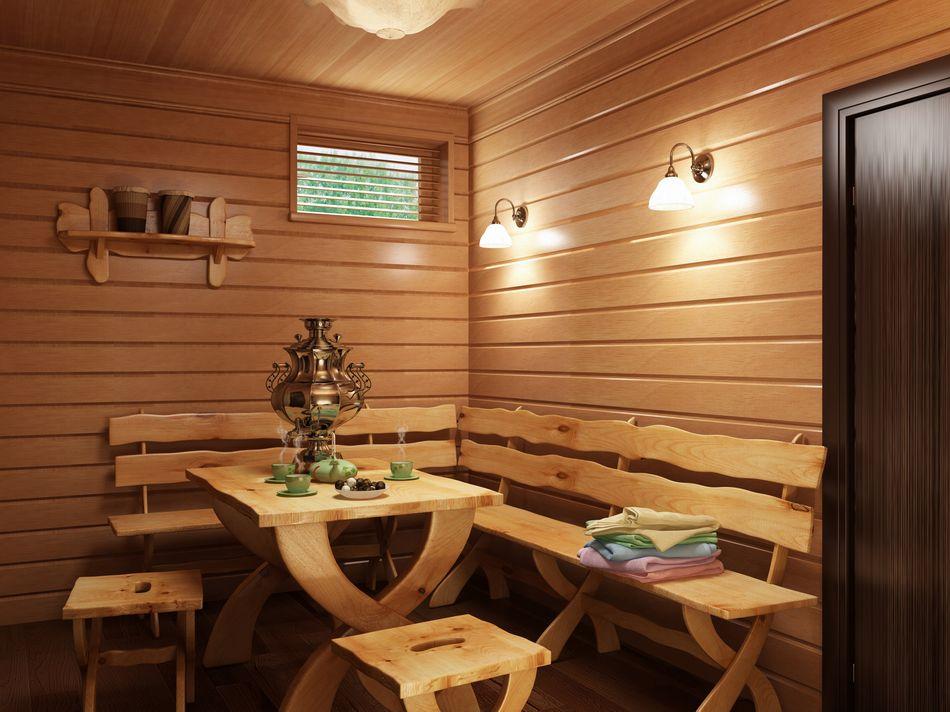 Дизайн бани внутренней отделки