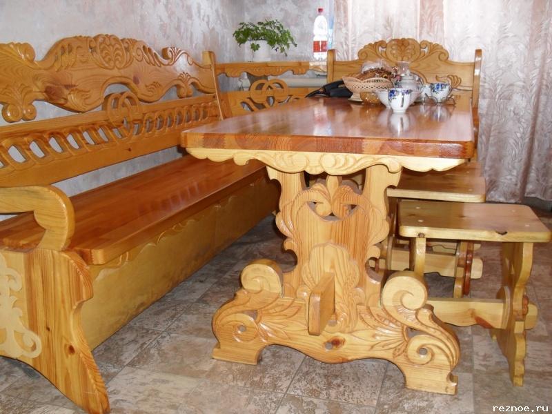 Кухонные уголки из дерева (42 фото натуральная) 42