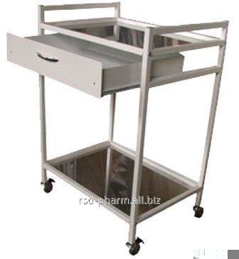 Столик процедурный металлический артикул СТ-001