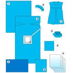 Комплект для кесарева сечения Dolce-Pharm, одноразовый, стерильный