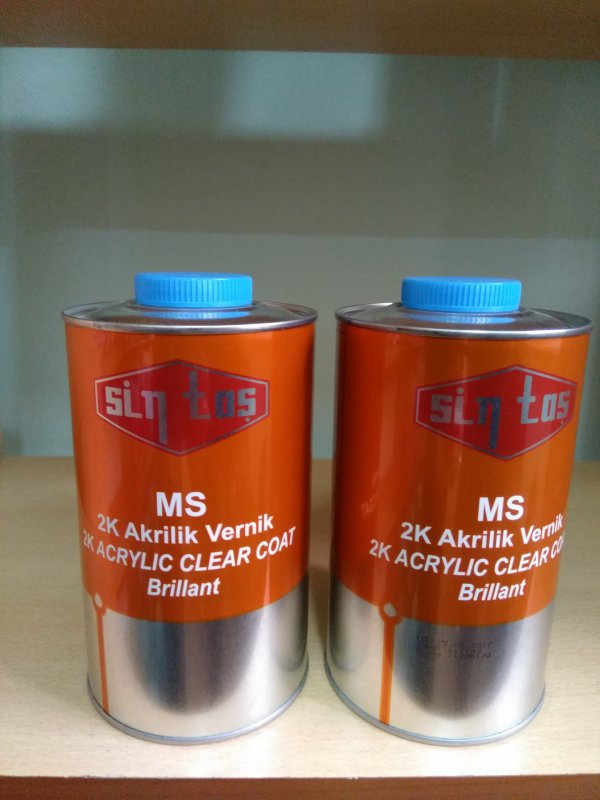 Two-component acrylic varnish of MS BRILLIANT. Turkish quality.