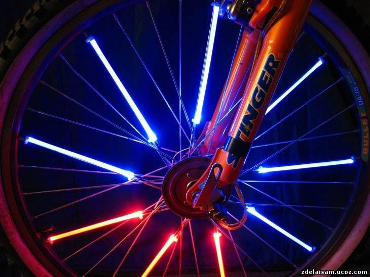 Как сделать светодиодную ленту для велосипеда 487