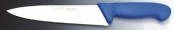 Нож поварской для нарезки, ручка синего цвета
