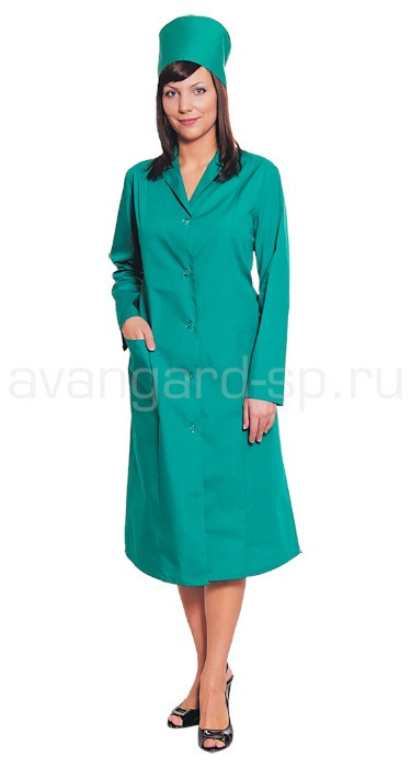 Buy Dressing gown with reliefs green. Article 004580