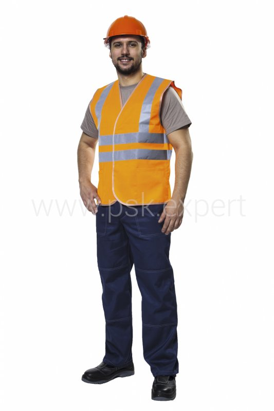 Buy Vest the Worker orange with tape SOP of 50 mm for the increased visibility