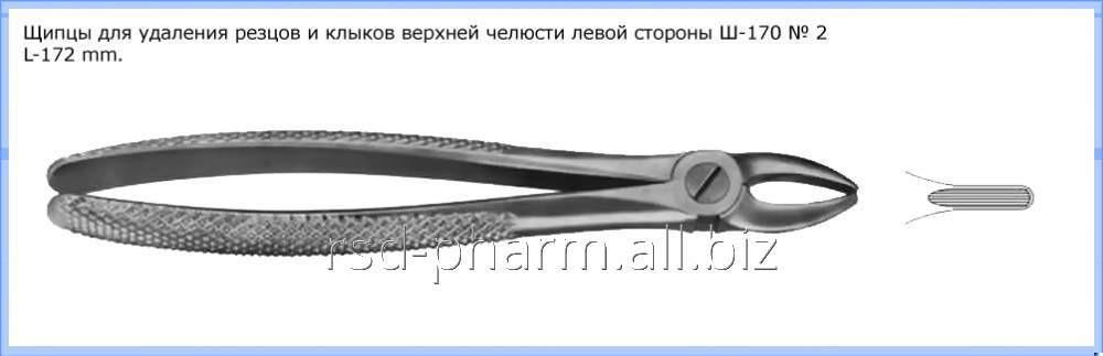 Щипцы для удаления резцов и клыков верхней челюсти № 2, Щ-170 П