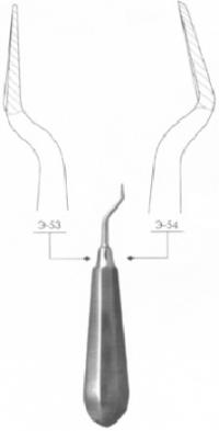 Элеватор зубной штыковидный дистальный № 1Д, Э-54 П