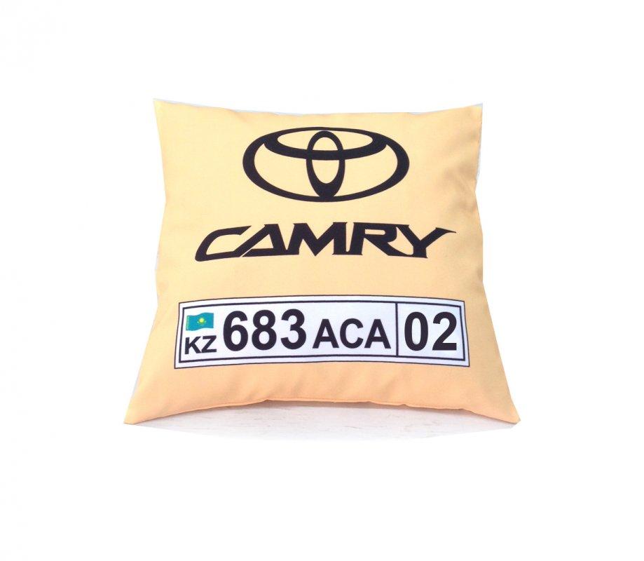 Авто-подушка с номером машины на заказ.