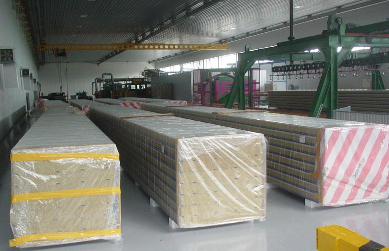 Готовые панели к упаковке и транспортировке