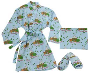 Set for a sauna (a dressing gown, a towel, slippers) female buy in ...