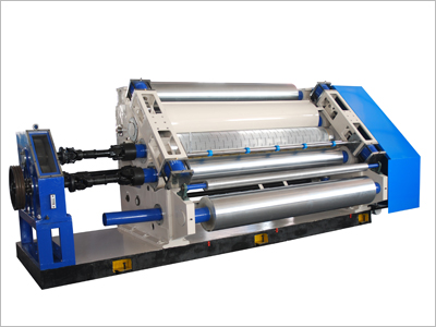 Gofropress for production of two-layer corrugated fibreboard, SF-I-280 Single Facer, an element of the line of production of corrugated fibreboard, the equipment for production of a corrugated cardboard