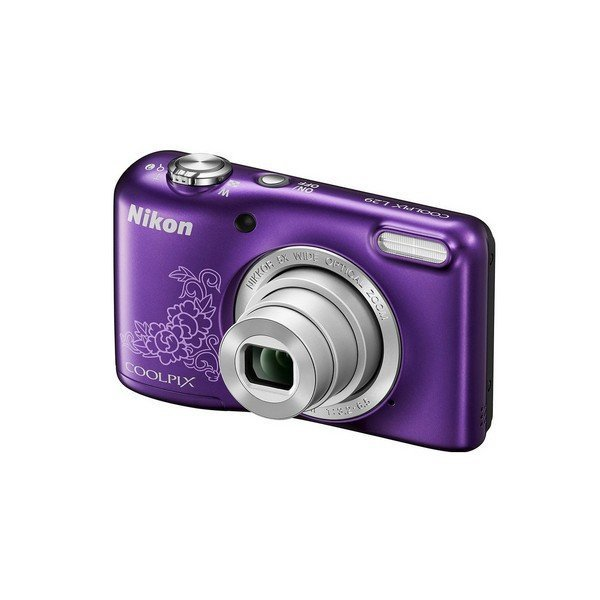 The Digital Nikon COOLPIX L29 Camera Violet With Drawing