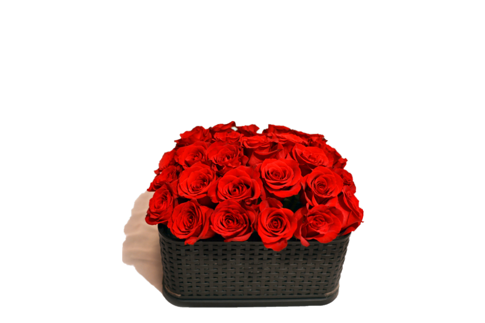 Bouquet of roses to order in a design box buy in Astana
