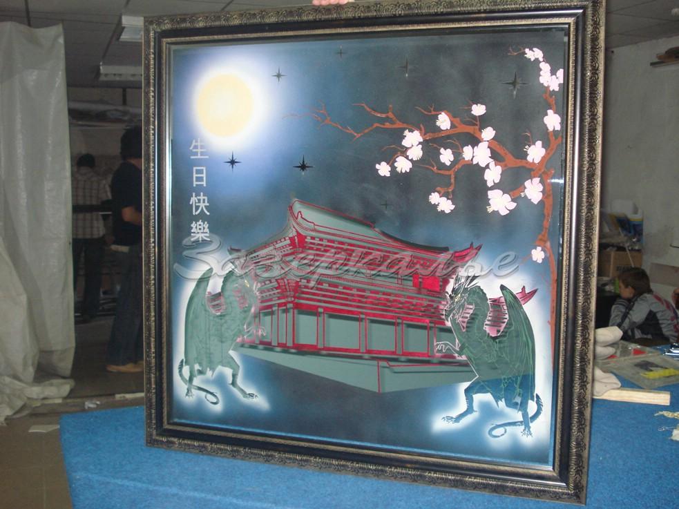 Купить Панно в виде картины в японском стиле