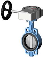 Межфланцевый дисковый поворотный затвор Ру25 VP4459-08