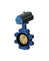 Межфланцевый дисковый поворотный затвор с резьбовыми проушинами VP3642-07