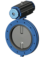 Фланцевый дисковый поворотный затвор Ру10 VP4508-03