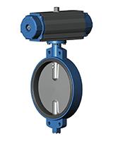 Межфланцевый дисковый поворотный затвор Ру10 VP4409-03