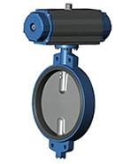 Межфланцевый дисковый поворотный затвор Ру10 VP4408-03