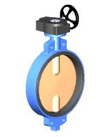 Межфланцевый дисковый поворотный затвор Ру10 VP4402-08
