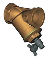Сетчатый наклонный фильтр Ру16 с промывочным краном F2142