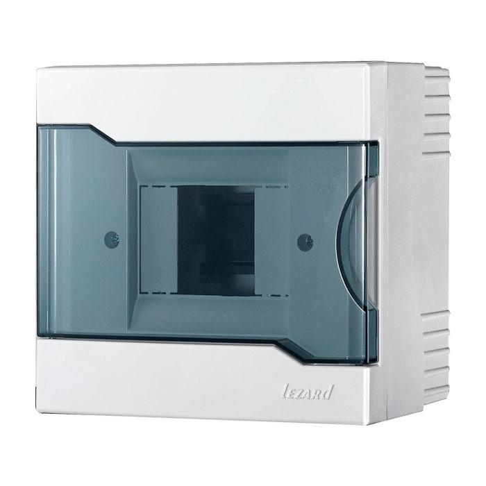 Купить Бокс с прозрачной крышкой ЩРН-П-4 для наружной установки 4-х модульных устройств