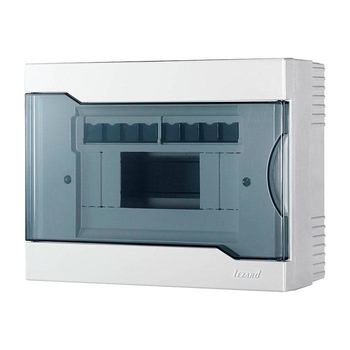 Купить Бокс с прозрачной крышкой ЩРН-П-8 для наружной установки 8-и модульных устройств