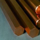 Buy Hexagon of copper 3 - 150 mm of M1 of M3 of Sq.m of GOST 1535-91