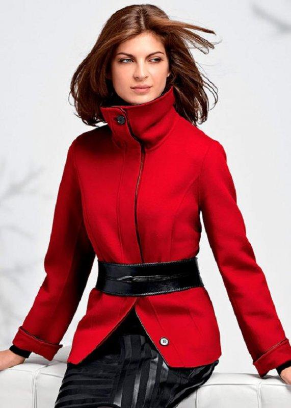 Пальто-ветровка микс