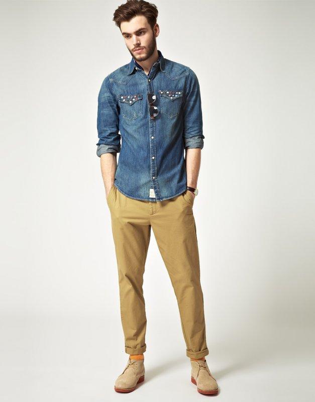 Рубашка джинсовая мужская