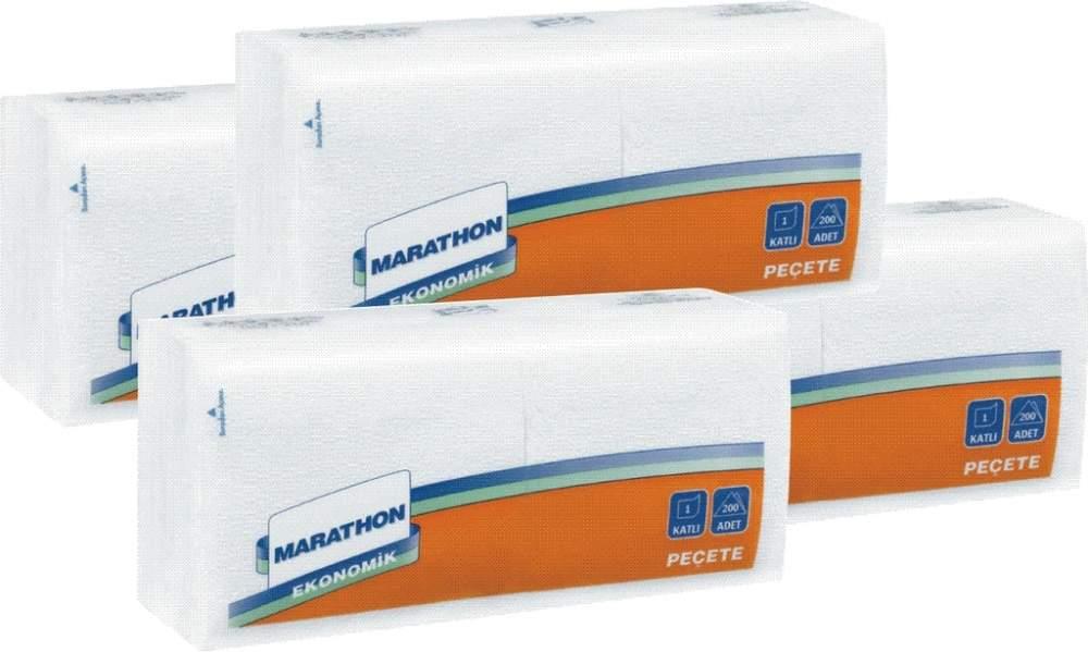 Купить Настольные салфетки Marathon Economy 24,5 х 26,5 белые