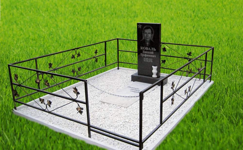 Buy Fencing for a cemetery metal with decorative elements