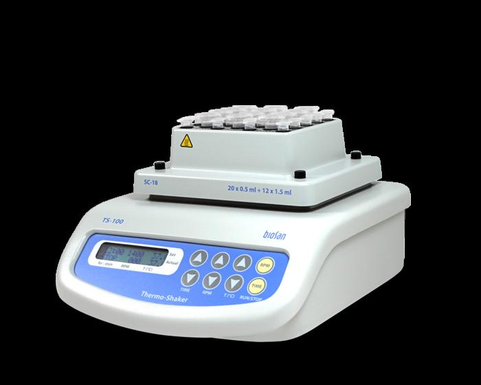 Термошейкер для пробирок Эппендорф и ПЦР-планшета TS-100
