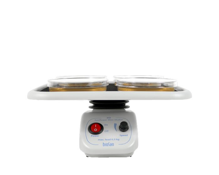 Шейкер 3-D BioSan «Sunflower» для окрашивания, промывки (200*200мм,3 вида движ.,60об/мин)