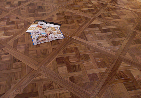 价格弹力花纹镶木地板(古典)