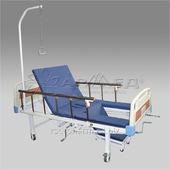 КРОВАТЬ ФУНКЦИОНАЛЬНАЯ RS104-G (с санитарным приспособлением и функцией кардиокресла).