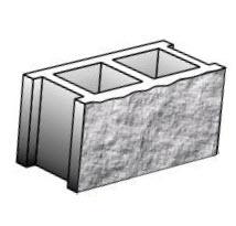 Блок стеновой рядовой