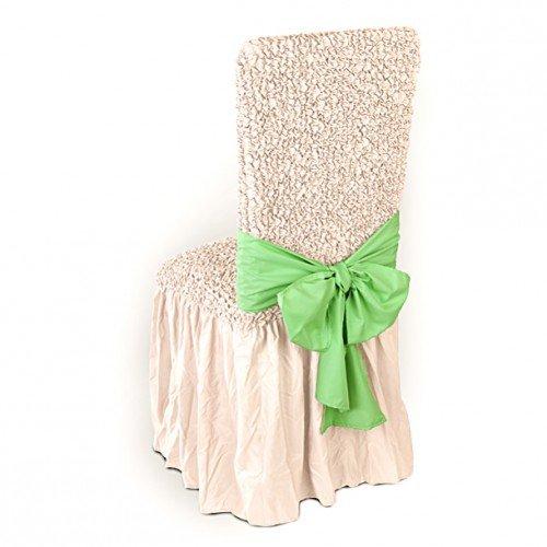 Купить Бант на стул Микрофибра Зеленое яблоко