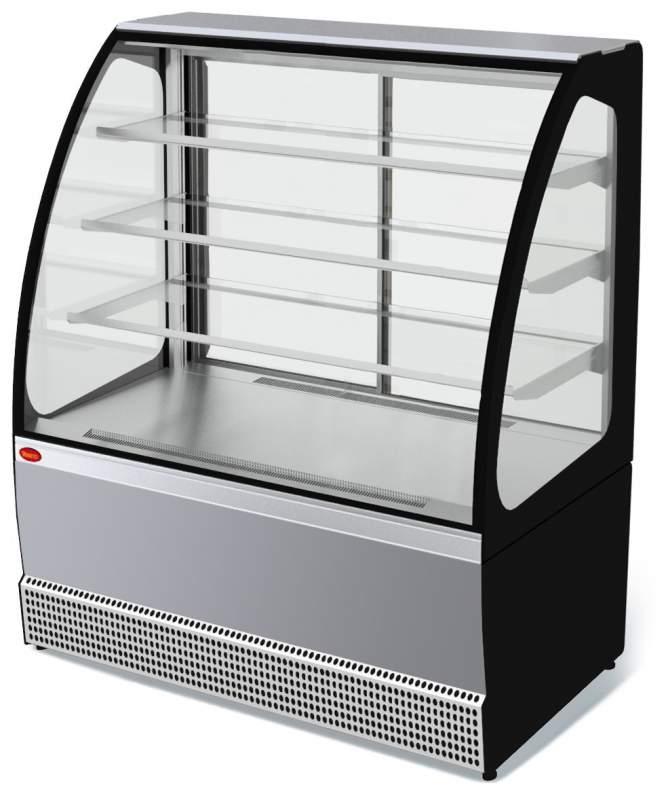 Холодильная витрина Veneto VS-1,3 нержавейка