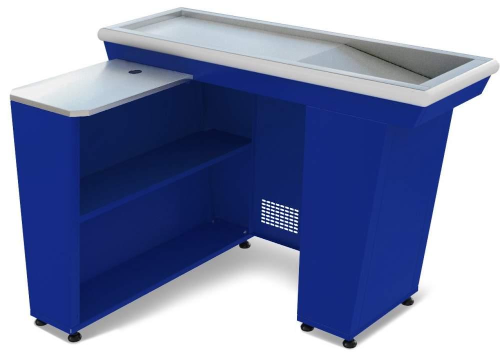 Кассовый бокс КБ-1,5-1Н одинарный накопитель синий