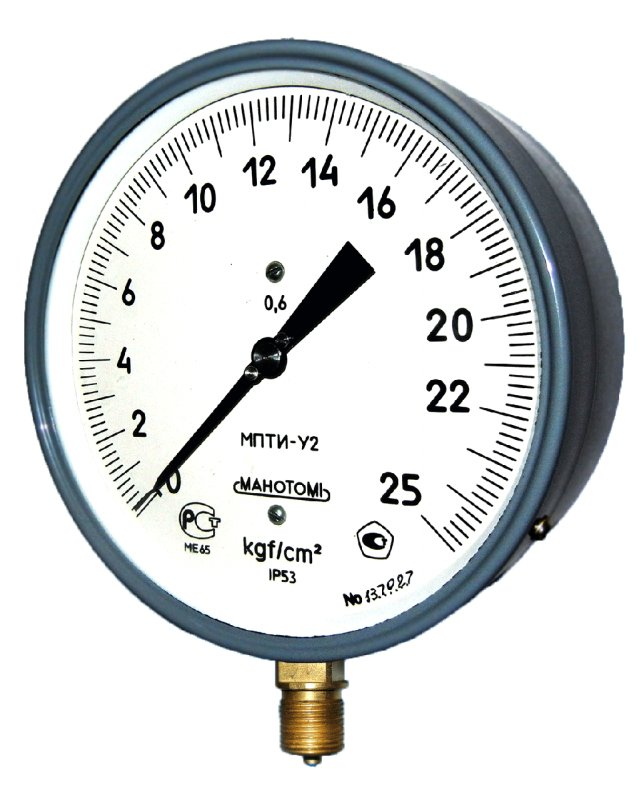 Манометры, вакуумметры, мановакуумметры показывающие для точных измерений МПТИ, ВПТИ, МВПТИ кл.т.0,6